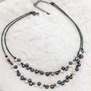 Lis Sophia Tahitian freshwater pearl necklace